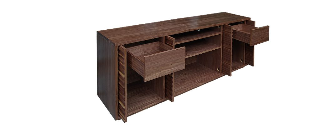 AV cabinet with storage drawers for CDs & DVDs