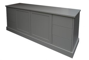 AV cabinet in painted finish