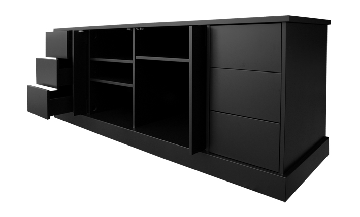 Black lacquered AV multimedia units