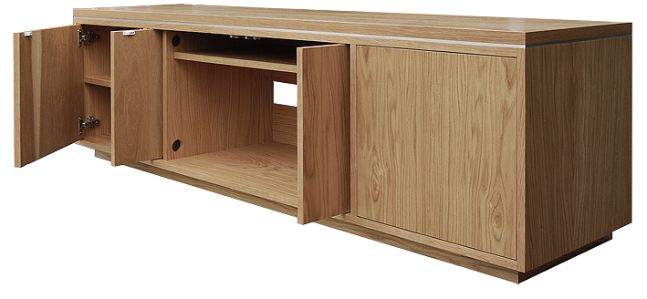 Oak TV stand with storage for DVD's and AV equipment