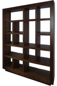 Wall unit in American black walnut