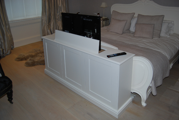 End of bed pop up TV cabinet