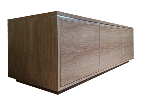 Custom made AV and television cabinet in oak