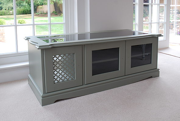 Custom made AV and television cabinet in painted finish