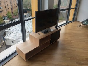 Bespoke maple AV unit