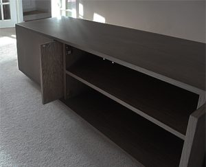 Bespoke TV cabinet in wenge finish