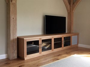 Bespoke TV cabinet in oak