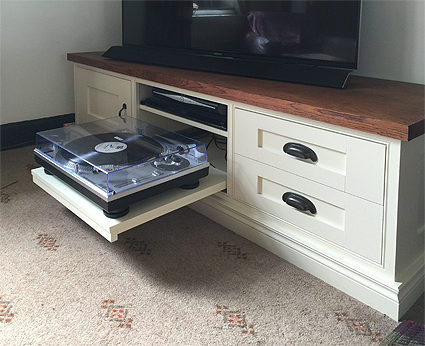 Bespoke AV cabinet for living room