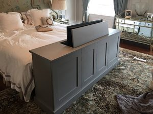 end of bed tv cabinet bespoke