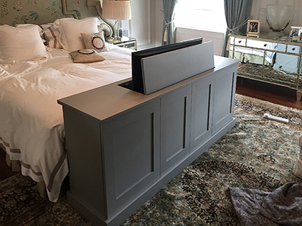 end of bed TV cabinet