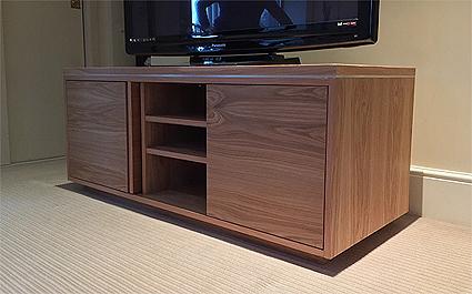 Bespoke oak av cabinet
