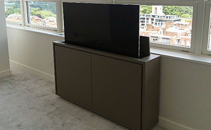 TV cabinet with lift for large flat screen TV