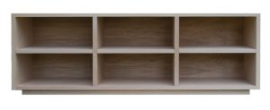 TV cabinet in natural oak finish