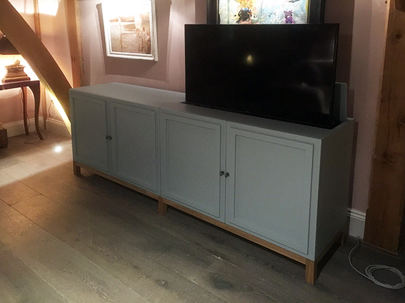 Bespoke Pop up TV cabinet, end of bed TV cabinet