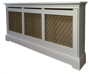 Radiator cover with brass