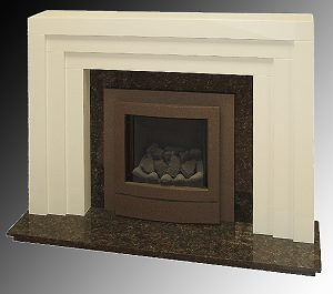 Art Deco fire surround on old English white
