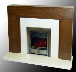 Aston fire surround in oak
