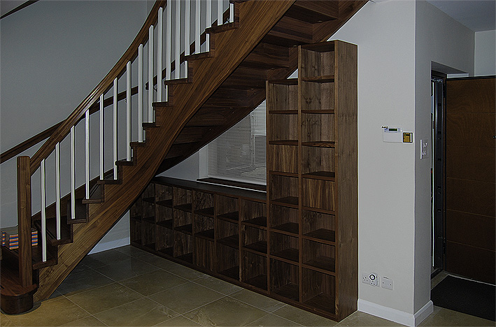 American black walnut bookcase