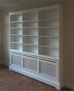 Cambridge radiator bookcase
