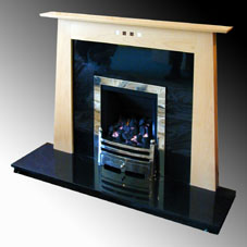 Focus  fire surround in maple