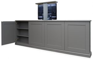 End of bed pop up tv cabinet