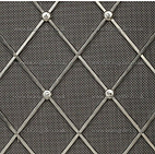 Diamond shaped radiator grille