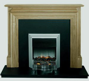 Grosvenor fire surround shown in oak