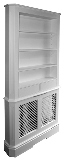 Radiator Cover With Bookcase Bookcase Above Radiator Cover Made To Measure Radiator Covers