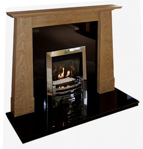 Ruskin fireplace in solid oak