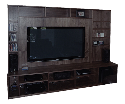 American black walnut wall unit
