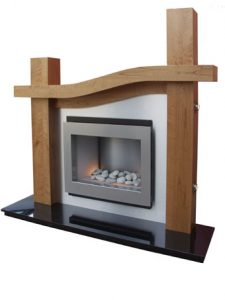 Wave fire surround