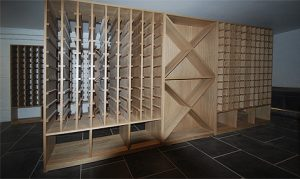 Made to measure oak wine racks
