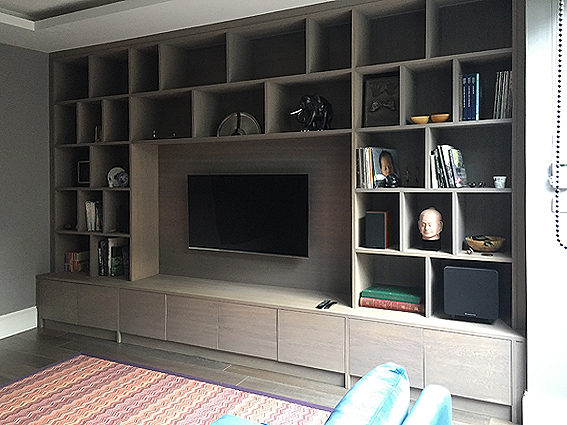 TV and AV wall unit