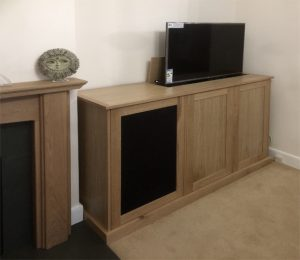 TV lift cabinet with swivel