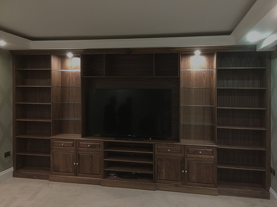 AV unit in walnut
