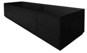 Ebonised oak media unit