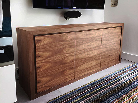 TV cabinet in American black walnut