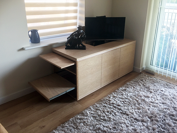 TV cabinet with lift and swivel