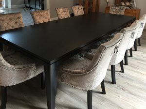 black oak dining table