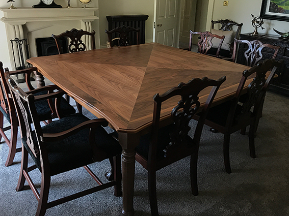bespoke walnut dining table