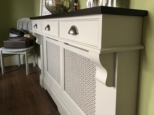 radiator cover with drawers above