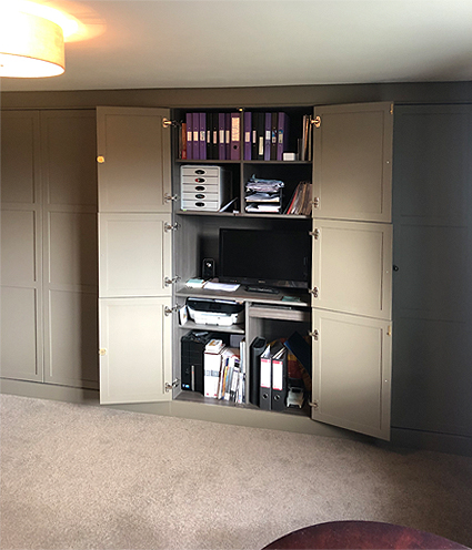 Home office and storage solution