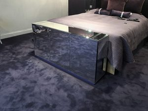 End of bed mirror tv cabinet with lift