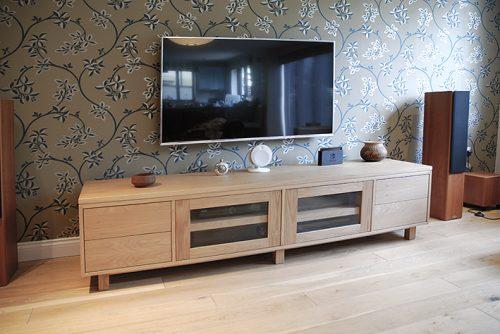 Bespoke oak TV cabinet