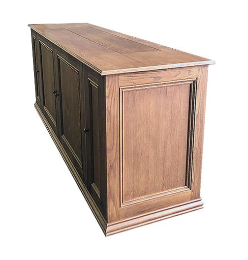 Oak TV lift cabinet