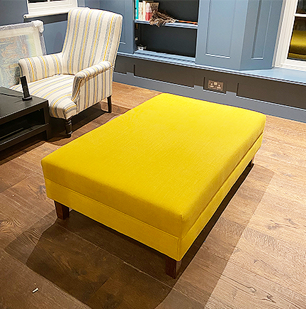 Yellow footstool 1