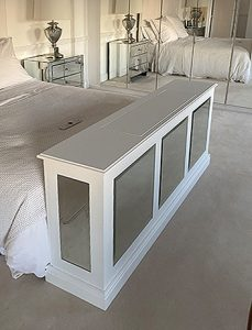 mirror end of bed tv cabinet