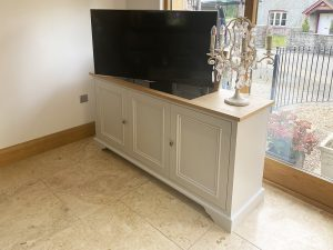 TV lift and swivel cabinet