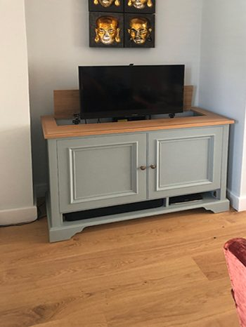 Bespoke tv lift cabinet