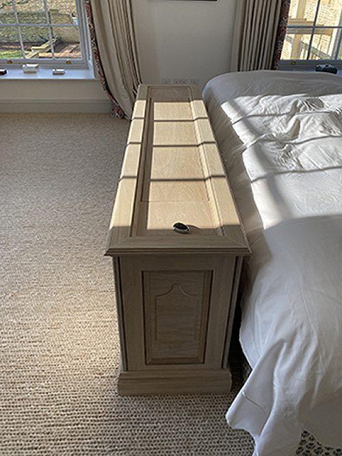 Bleached oak TV cabinet